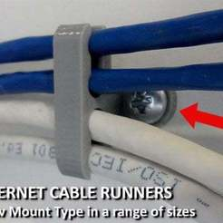 Download free STL Ethernet Cable Runners - Screw Mount Type, Muzz64