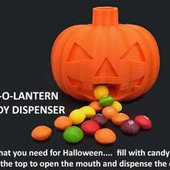 Download free 3D printing files Jack-O-Lantern Candy Dispenser, Muzz64