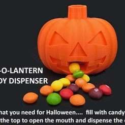 Descargar Modelos 3D para imprimir gratis Dispensador de caramelos Jack-O-Lantern, Muzz64