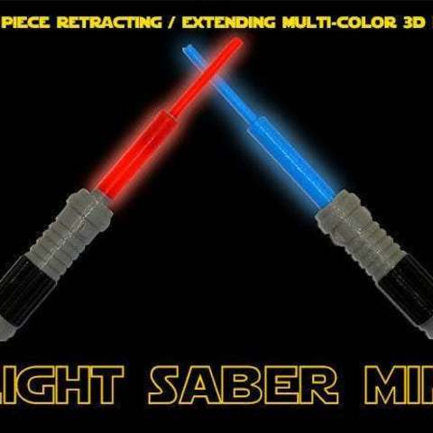 LightSaberMini_display_large.jpg Download free STL file Light Saber Mini - Every Star Wars fan needs one! • Model to 3D print, Muzz64