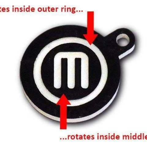 key_fob_display_large.jpg Télécharger fichier STL gratuit Porte-clés rotatif / Fob.... avec logo MakerBot tournant ! • Objet pour imprimante 3D, Muzz64