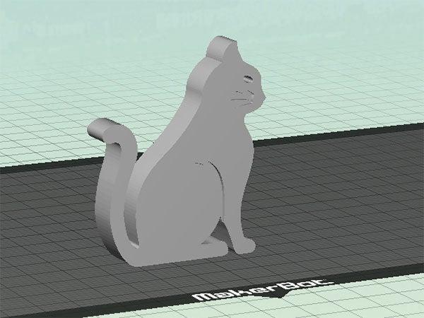 cat-1_display_large.jpg Télécharger fichier STL gratuit Chat - Assis avec des moustaches (rainures fraisées) • Plan imprimable en 3D, Muzz64