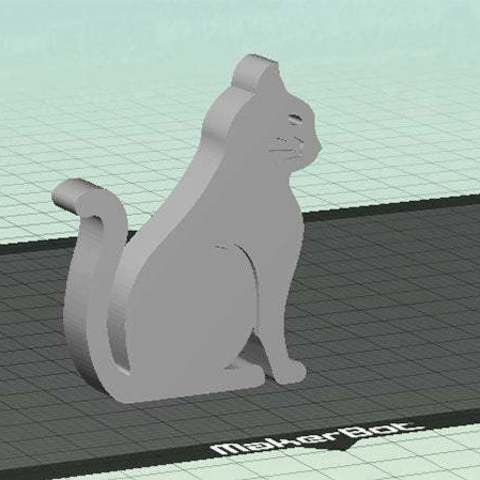 cat-1_display_large.jpg Download free STL file Cat - Sitting with Whiskers (Countersunk Grooves) • Template to 3D print, Muzz64