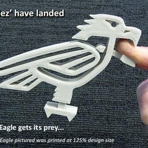 Imprimir en 3D gratis Eaglez... con Picos Móviles que Muerden!  (No se requiere soporte), Muzz64