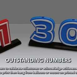 Download free 3D model Outstanding Numbers, Muzz64