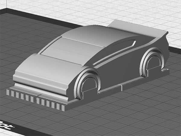 sportscar-4_display_large.jpg Download free STL file Sports Car - One piece print with moving wheels • 3D printable model, Muzz64