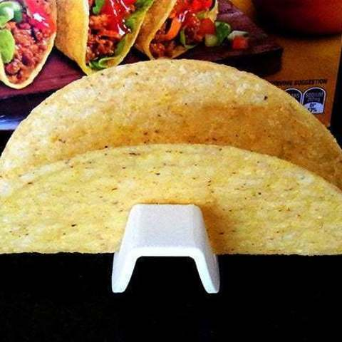 d6bee519d1f88771dd70be9cd0fd8b54_display_large.jpg Download free STL file Taco Holder - Rolls over for easy filling / Flat base holds Taco upright when served • Model to 3D print, Muzz64