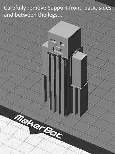mc_mb_s_display_large.jpg Download free STL file Minecraft Steve - One piece print with moving head/arms/legs! • 3D printing object, Muzz64