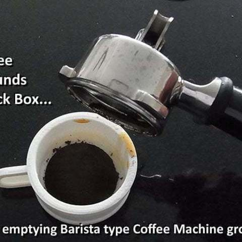 Download free 3D printer templates Barista Coffee Machine Knock Box for Coffee Grounds, Muzz64