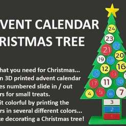 Download free 3D model Advent Calendar Christmas Tree, Muzz64