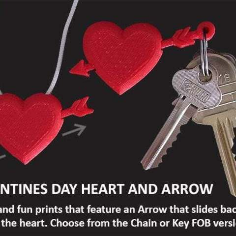 Download free 3D printer model Valentines Day Heart with Moving Arrow, Muzz64