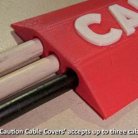 ae81346156a9eea44c3a24a79027c156_display_large.jpg Download free STL file 'CAUTION Cable Cover' • 3D print object, Muzz64