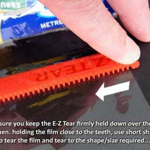 bb0c58294e2ce04fd89c1d6e49e07123_display_large.jpg Download free STL file E-Z Tear - Cling Film Tearing Tool • 3D print template, Muzz64