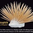 88cb08a0e4dfc170742c6be7cda8354c_display_large.jpg Download free STL file Porcupick • Model to 3D print, Muzz64