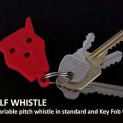 Télécharger plan imprimante 3D gatuit Wolf Whistles.... des sifflets multi-poix faciles et amusants !, Muzz64
