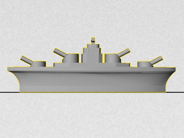 side_display_large.jpg Download free STL file BATTLESHIPS - with Rotating Gun Turrets (No support required) • 3D printer template, Muzz64