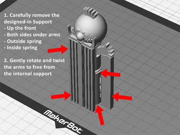 support_display_large.jpg Download free STL file Zebedee -  From The Magic Roundabout (Wobbles on the spring and arms that go up and down) • Object to 3D print, Muzz64