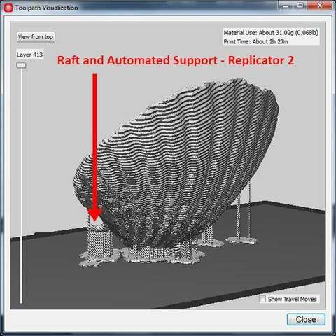 raft-support_display_large.jpg Download free STL file Sea Shell - Digitizer MultiScan • Design to 3D print, Muzz64