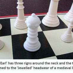 Download free STL files New Chess Piece is a Game Changer - Introducing the 'Earl', Muzz64