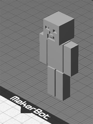 mc_mb_display_large.jpg Download free STL file Minecraft Steve - One piece print with moving head/arms/legs! • 3D printing object, Muzz64
