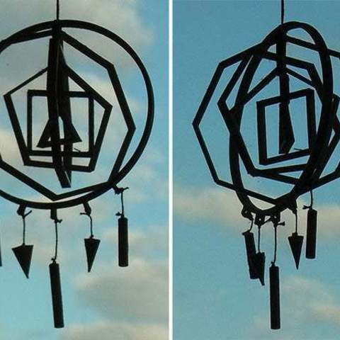 dreamcatcher_display_large.jpg Download free STL file 3D Dream / Idea Catcher - Catch great 3D ideas while you sleep! • 3D print model, Muzz64