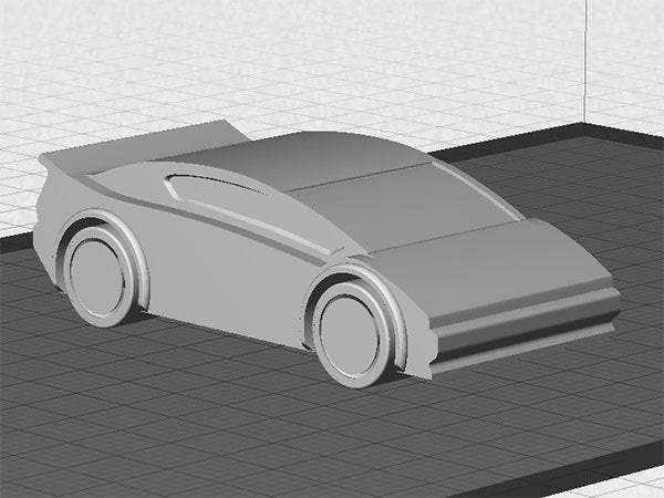 sportscar-1_display_large.jpg Download free STL file Sports Car - One piece print with moving wheels • 3D printable model, Muzz64