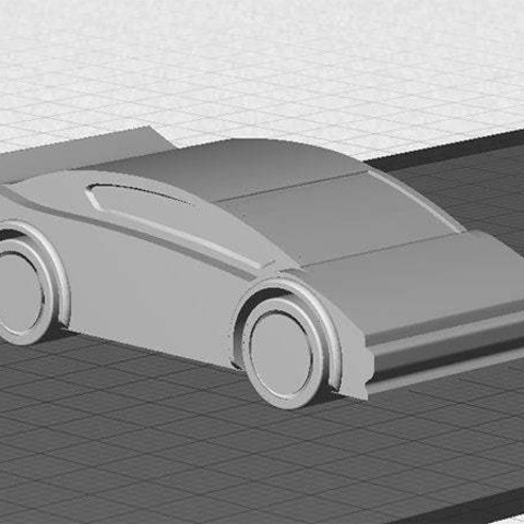 Download free STL file Sports Car - One piece print with moving wheels • 3D printable model, Muzz64