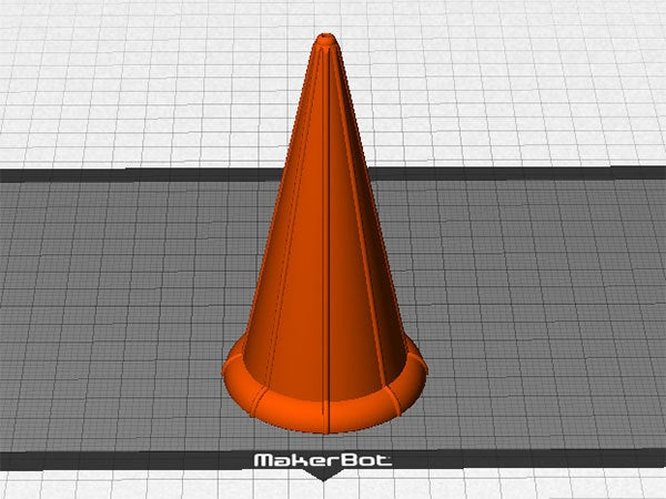 build-plate_display_large.jpg Download free STL file Ice Cream Cone - Just like a regular cone but reusable! • 3D print design, Muzz64