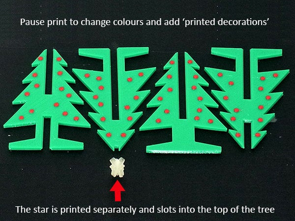 xtree_2_display_large.jpg Download free STL file Christmas Tree - Your own personal mini 3D printed Christmas tree with coloured decorations! • Object to 3D print, Muzz64
