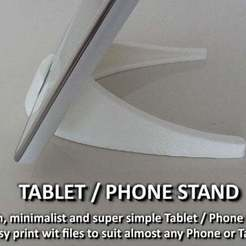 Download free 3D printer designs Tablet / Phone Stand, Muzz64