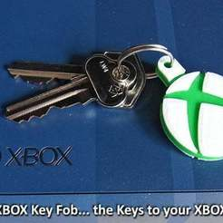 xbox_1_display_large.jpg Download free STL file XBOX Key Fob • 3D printer model, Muzz64