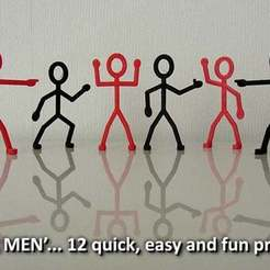 Download free 3D printer templates 'Stik Men', Muzz64