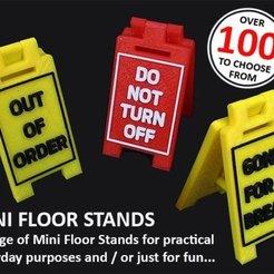 Impresiones 3D gratis Minipedestadores de suelo, Muzz64