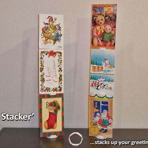 card_stacker_display_large.jpg Download free STL file 'Card Stacker'... stacks your greeting cards! • Template to 3D print, Muzz64