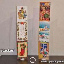 Free 3D printer model 'Card Stacker'... stacks your greeting cards!, Muzz64