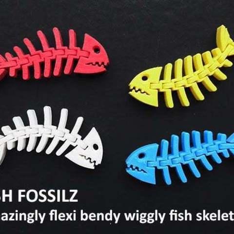 0cf0763475f24fb785b5bfb356d15e4a_display_large.jpg Download free STL file Fish Fossilz • 3D printing template, Muzz64