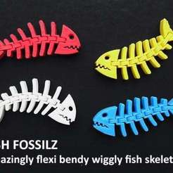 0cf0763475f24fb785b5bfb356d15e4a_display_large.jpg Download free STL file Fish Fossilz • 3D printing template, Muzz64