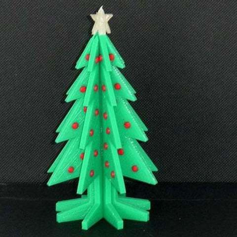 Download free STL Christmas Tree - Your own personal mini 3D printed Christmas tree with coloured decorations!, Muzz64