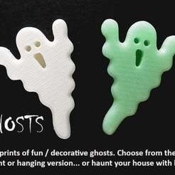 Download free 3D printing templates GHOSTS, Muzz64