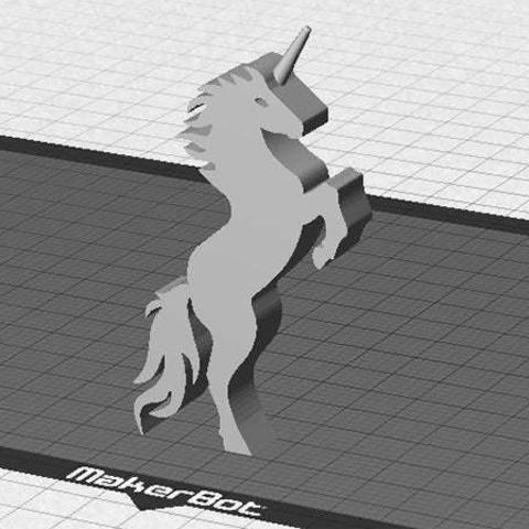 unicorn_1_display_large.jpg Download free STL file Unicorn - Stands Up (Balanced by Tail) • 3D printer model, Muzz64