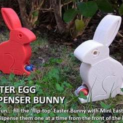 Descargar Modelos 3D para imprimir gratis Conejito Dispensador de Huevos de Pascua, Muzz64