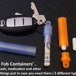 Free 3D print files Key Fob Containers, Muzz64