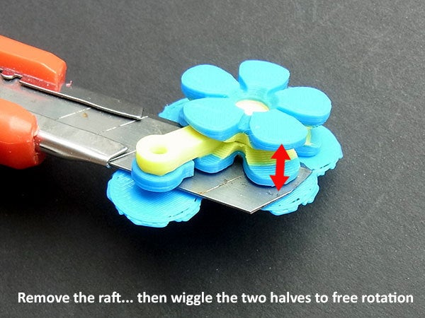 raft_display_large.jpg Download free STL file Flower Fobs... Flower Key Fobs that Spin! • 3D printing object, Muzz64