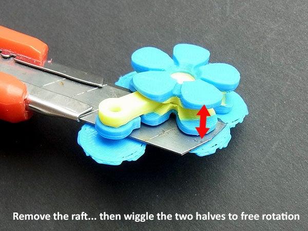 raft_display_large.jpg Télécharger fichier STL gratuit Fleurs Fobs..... Des porte-clés Flower qui tournent ! • Modèle pour impression 3D, Muzz64