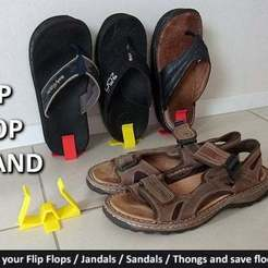Download free 3D printer files Flip Flops (Jandals / Thongs / Sandals) Stand, Muzz64