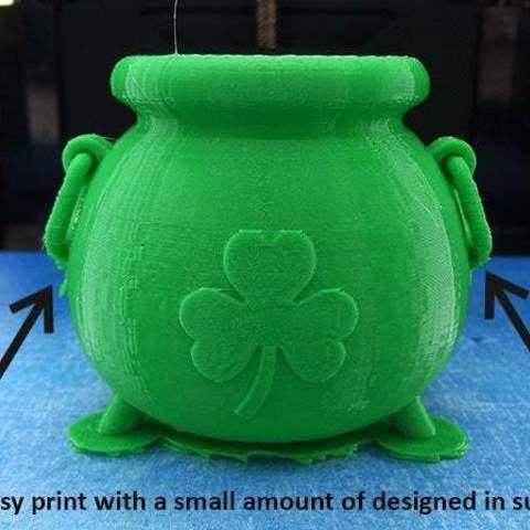 d90ad420903dbe4ea0f912e67e8e8cb9_display_large.jpg Télécharger fichier STL gratuit Pot d'or irlandais • Design imprimable en 3D, Muzz64