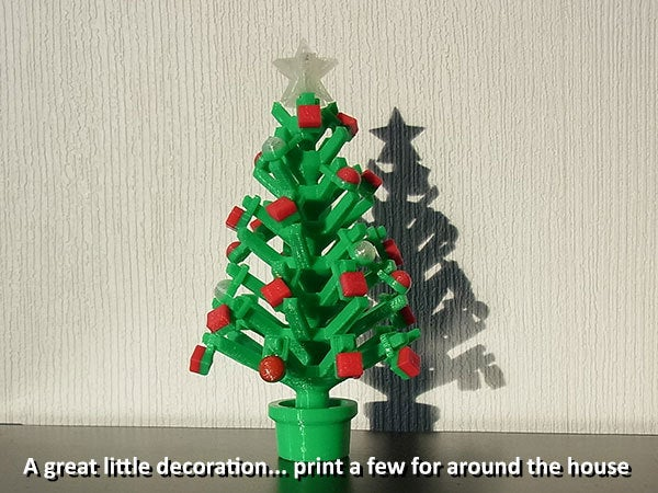 house_display_large.jpg Download free STL file Mini Christmas Tree with hook on Decorations! • Design to 3D print, Muzz64
