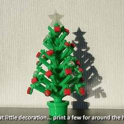 Download free STL file Mini Christmas Tree with hook on Decorations! • Design to 3D print, Muzz64