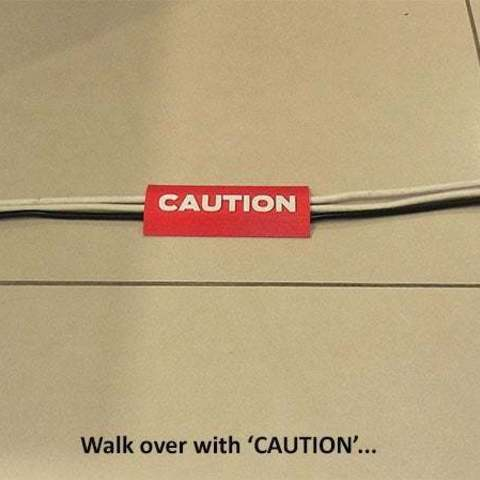 37e93a12e2e76cabab17d566c5ac7025_display_large.jpg Download free STL file 'CAUTION Cable Cover' • 3D print object, Muzz64