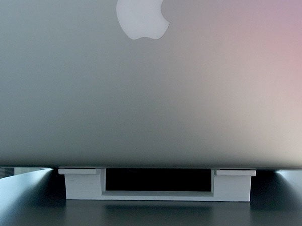 """rear_apple_display_large.jpg Download free STL file """"Tilt Bar"""" angles Laptop Keyboards for improved comfort, ease of use and convenience • 3D printing design, Muzz64"""